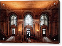 Acrylic Print featuring the photograph Library Entrance by Jessica Jenney