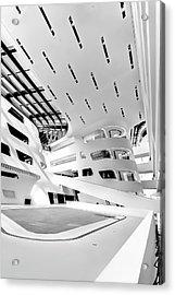 Library Interior 3 Zaha Hadid Wu Campus Vienna  Acrylic Print