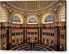 Library Of Congress Acrylic Print by Andrew Soundarajan