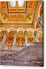 Library Of Congress II Acrylic Print by Steven Ainsworth