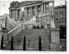 Library Of Congress In Black And White Acrylic Print