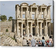 Library Ruins At Ephesus Turkey Acrylic Print by Charles  Ridgway