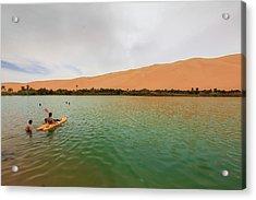 Libyan Oasis Acrylic Print