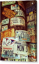 License Plate Acrylic Print by JAMART Photography
