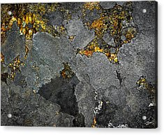 Lichen On Granite Rock Abstract Acrylic Print