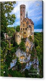 Lichtenstein Castle - Germany Acrylic Print by Gary Whitton