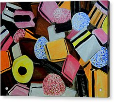 Licorice All Sorts Acrylic Print by Betty-Anne McDonald