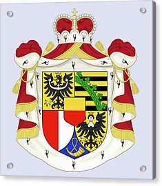 Acrylic Print featuring the drawing Liechtenstein Coat Of Arms by Movie Poster Prints