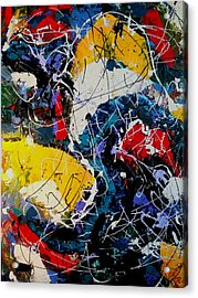 Acrylic Print featuring the painting Life - A Bit Of Everything by Ray Khalife