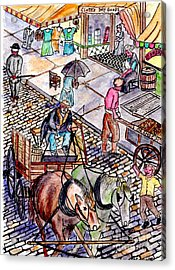 Life As It Was In Columbia And Union Streets Acrylic Print