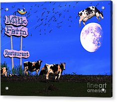 Life At The Old Milk Farm Restaurant After The Lights Went Out For The Last Time In 1986 Acrylic Print by Wingsdomain Art and Photography