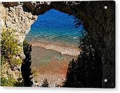 Life Below Arch Rock Acrylic Print