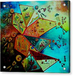 Acrylic Print featuring the painting Life Cycle 1 by Ray Khalife
