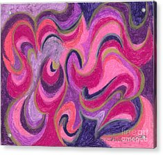 Acrylic Print featuring the painting Life Energy by Ania M Milo