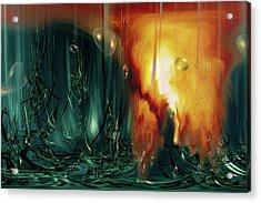 Acrylic Print featuring the digital art Life Form Ends by Linda Sannuti