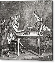 Life In A Berlin Brothel, 18th Century Acrylic Print