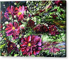 Life In A Bloom Field Acrylic Print