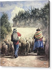 Life In Peru Acrylic Print