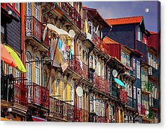 Acrylic Print featuring the photograph Life In Ribeira Porto  by Carol Japp