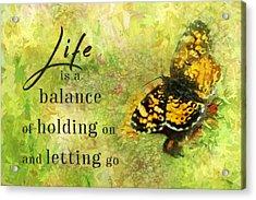 Life Is A Balance Acrylic Print