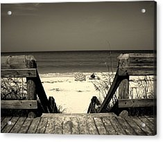 Life Is A Beach Acrylic Print by Susanne Van Hulst