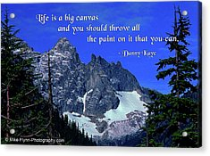 Life Is A Big Canvas Acrylic Print