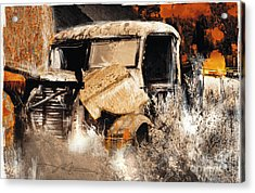 Life Is A Highway Acrylic Print by Bob Salo
