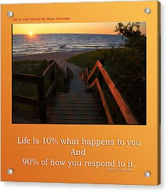 Life Is And Should Be Many Sunrises Acrylic Print