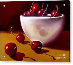 Life Is Just A Bowl Of Cherries Acrylic Print by Colleen Brown