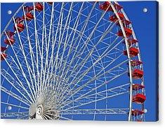 Life Is Like A Ferris Wheel Acrylic Print by Christine Till