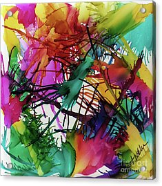 Life Of Color Acrylic Print by Jo Ann Bossems