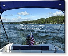 Acrylic Print featuring the photograph Life Of Leisure by Peggy Hughes