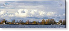 Life On The Columbia Acrylic Print