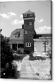 Life Saving Station Acrylic Print by Colleen Kammerer