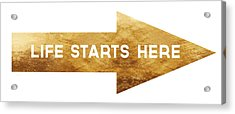 Life Starts Here-art By Linda Woods Acrylic Print