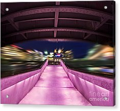 Life Under The City In Geneva Acrylic Print by Chris Smith