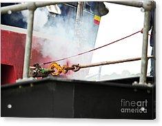 Lifeboat Chocks Away  Acrylic Print