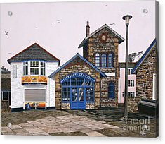 Lifeboat Station Acrylic Print by Jiji Lee
