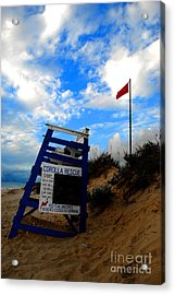 Lifeguard Aol Acrylic Print by Linda Mesibov