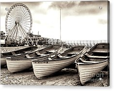 Lifeguard Boats At Wildwood Acrylic Print