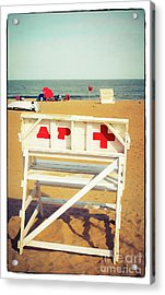 Acrylic Print featuring the photograph Lifeguard Chair - Asbury Park by Colleen Kammerer