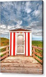 Lifeguard Hut Acrylic Print by Elisabeth Van Eyken