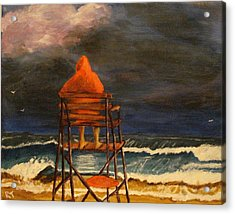 Lifeguard On Duty Acrylic Print by Rita Tortorelli