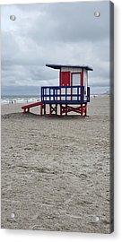 Lifeguard Shack - Cocoa Beach - Florida Acrylic Print by Greg Jackson