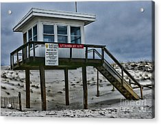 Lifeguard Station 1 Acrylic Print by Paul Ward