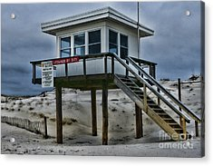 Lifeguard Station 2  Acrylic Print by Paul Ward