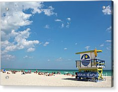 Lifeguard Station Miami Beach Florida Acrylic Print