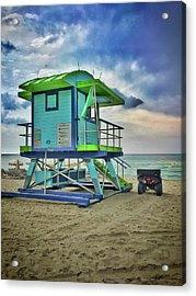 Lifeguard Station - Miami Beach Acrylic Print