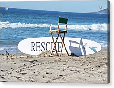 Lifeguard Surfboard Rescue Station  Acrylic Print