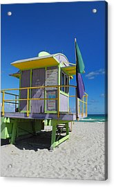 Lifeguard Tower 2 - South Beach - Miami Acrylic Print